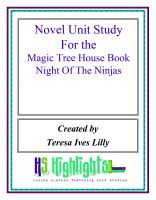 Cover for 'Novel Unit Study for the Magic Tree House Book Night of the Ninjas'