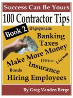 Cover for '100 Tips For Contractors – Book 2'