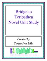 Cover for 'Bridge to Terabithea Novel Unit Study'