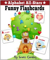 Cover for 'Alphabet All-Stars: Funny Flashcards'