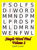 Cover for 'Simple Word Find Volume 2'