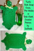 Cover for 'Turtle DIsh Soap Cover, Hot Pad or Dish Cloth Crochet Pattern'