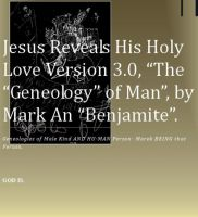 Cover for 'Jesus Reveals His Holy Love Versiob 3.0,'