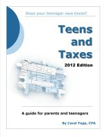 Cover for 'Teens and Taxes'