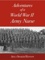 Cover for 'Adventures of a World War II Army Nurse (Digital Edition)'