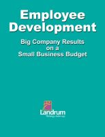 Cover for 'Employee Development: Big Business Results on a Small Business Budget'