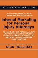 Cover for 'Internet Marketing for Personal Injury Attorneys'