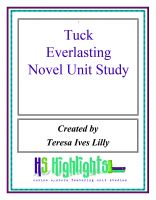 Cover for 'Tuck Everlasting Novel Unit Study'