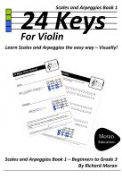 Cover for '24 Keys - Scales and Arpeggios for Violin, Book 1'