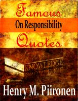Cover for 'Famous Quotes on Responsibility'