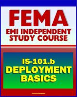 Cover for '21st Century FEMA Study Course: Deployment Basics 2012 (IS-101.b) - Federal Disaster Response and Recovery Course - National Incident Management System (NIMS) and National Response Framework'
