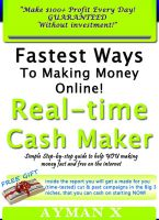 Cover for 'Fastest Ways To Making Money Online - Real-time Cash Maker - Make $100+ Profit Every Day!| GUARANTEED | Without investment!'