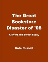 Cover for 'The Great Bookstore Disaster of '08'