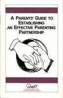 Cover for 'A Parents' Guide to Establishing an Effective Parenting Partnership'