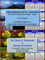 Cover for '2012 International Calendar - Mt. Fuji and Tama River Ginkgo - Japan'