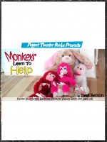 Monkeys Learn to Help: Puppet Theater Books Presents Funny Illustrated Bedtime P