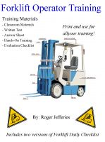 Cover for 'Forklift Operator Training'