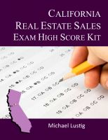 Cover for 'California Real Estate Sales Exam High-Score Kit'