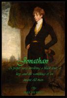 Cover for 'Jonathan: a proper story involving a black coat, a key, and the ramblings of an insane old man.'