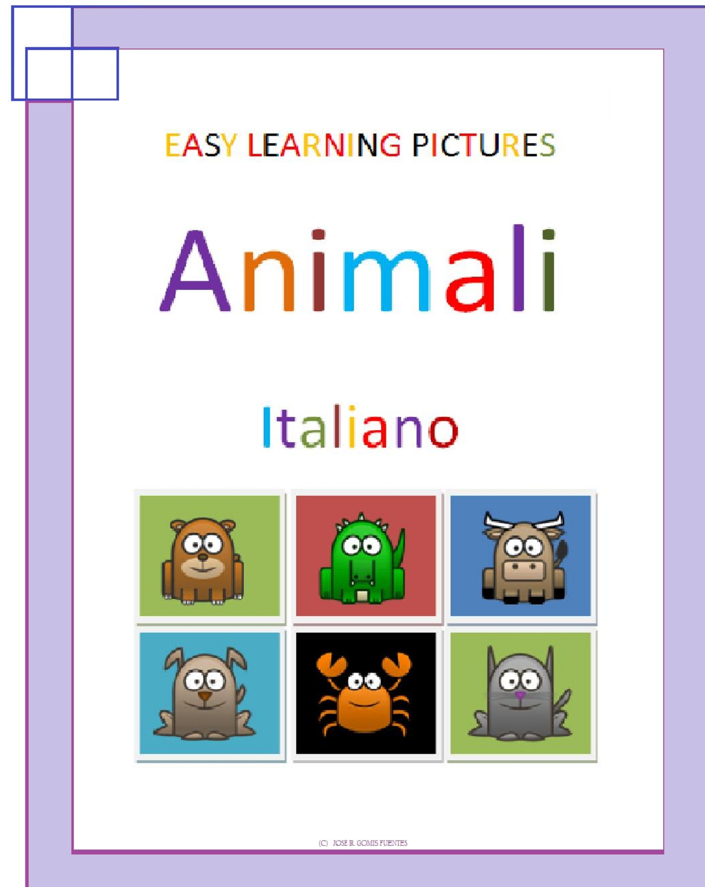 Jose Remigio Gomis Fuentes - Easy Learning Pictures. Animali.