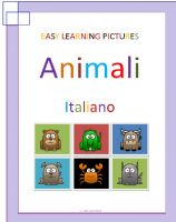 Cover for 'Easy Learning Pictures. Animali.'