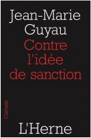 Cover for 'Contre l'idée de sanction'