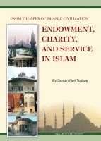Cover for 'Endowment, Charity and Service in Islam'