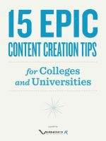 Cover for '15 Epic Content Creation Tips for Colleges and Universities'