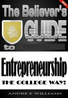 Cover for 'The Believer's Guide to Entreprenuership'