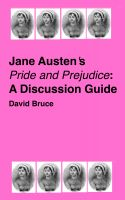 "Cover for 'Jane Austen's ""Pride and Prejudice"": A Discussion Guide'"