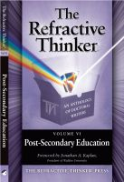 Cover for 'The Refractive Thinker: Vol: VI: Post -Secondary Education'