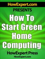 How To Start Green Home Computing cover
