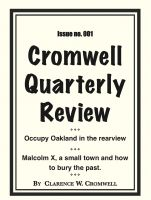 Cover for 'Cromwell Quarterly Review no. #001'