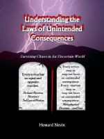 Cover for 'Understanding the Laws of Unintended Consequences'