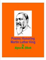Cover for 'Poems Honoring Dr. Martin Luther King'