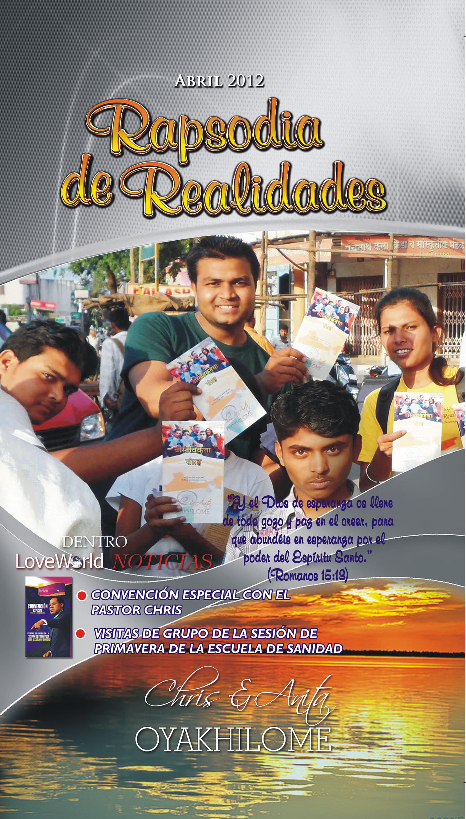 Pastor Chris and Anita Oyakhilome - Rhapsody of Realities April 2012 Spanish Edition