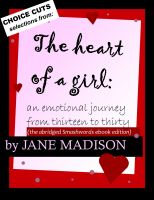 The Heart of a Girl: an emotional journey from thirteen to thirty cover