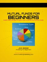 Cover for 'Mutual Funds For Beginners Book'