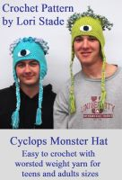 Cover for 'Cyclops Monster Hat for Teens Crochet Pattern'