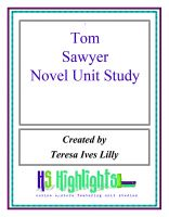 Cover for 'Tom Sawyer Novel Unit Study'