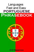 Cover for 'Languages Fast and Easy ~ Portuguese Phrasebook'