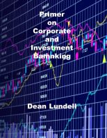 Cover for 'Primer on Corporate and Investment Banking'