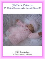 Cover for 'Pattern 87– Double Breasted Jacket Baby Crochet Pattern'