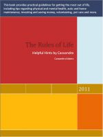 Cover for 'The Rules of Life'