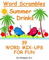 Cover for 'Summer Drinks Word Scrambles - 39 Word Jumble Puzzles'