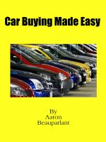 Cover for 'Car buying made easy'