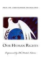 Cover for 'Our Human Rights'