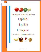 Cover for 'Trilingual Visual Dictionary. Food in Spanish, English and French'