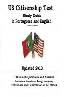 Cover for 'US Citizenship Test Study Guide in Portuguese  and English'
