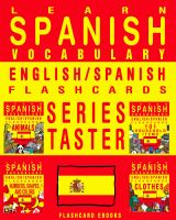 Cover for 'Learn Spanish Vocabulary - Series Taster - English/Spanish Flashcards'